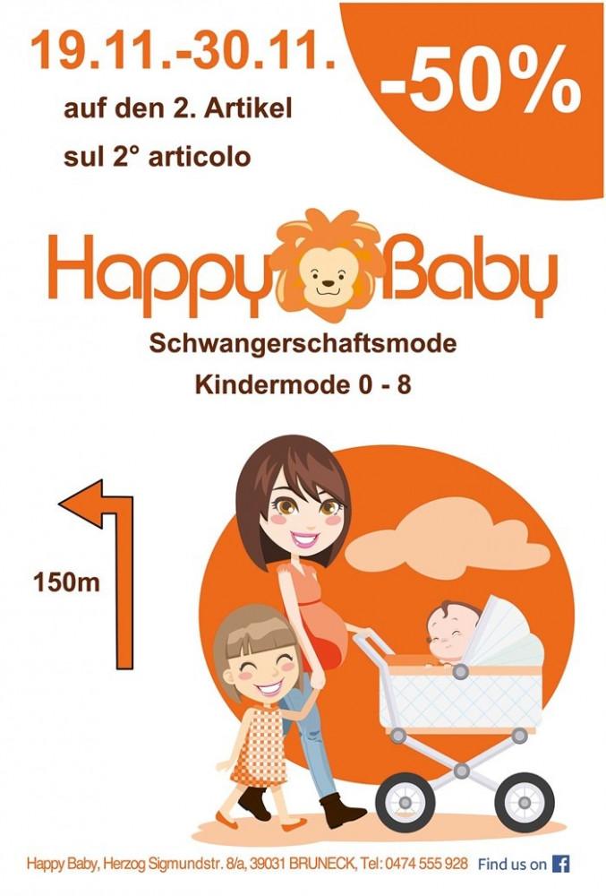 Offerte -50% sul 2° articolo di Happy Baby