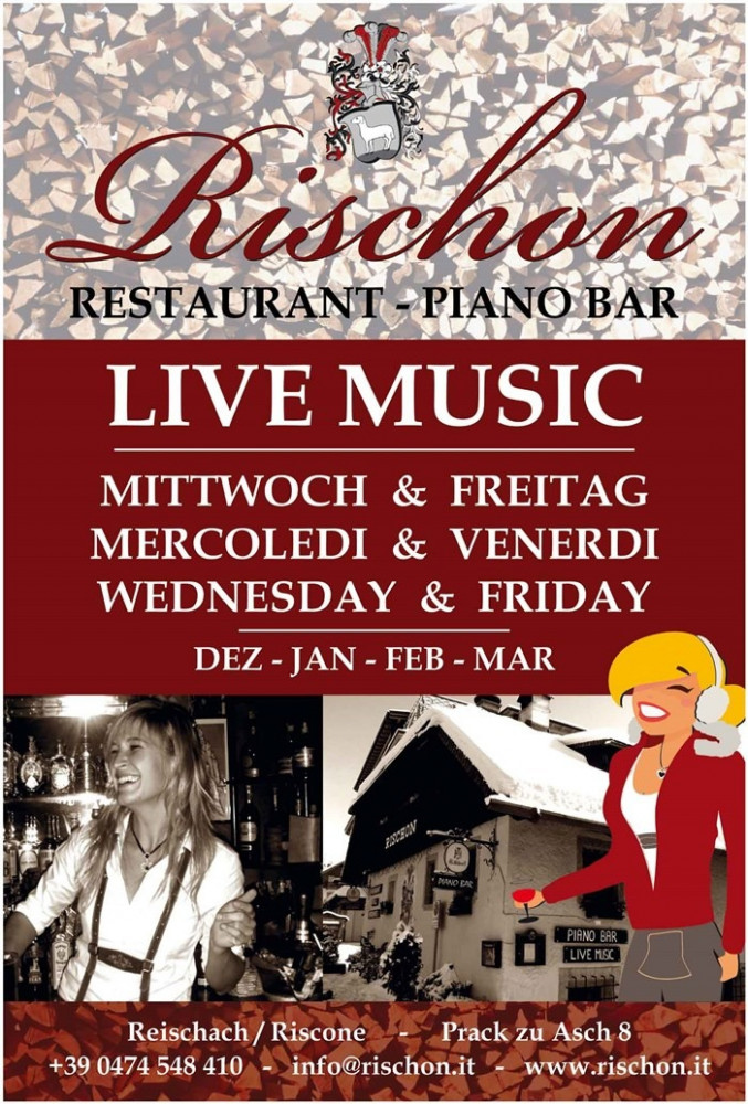 Offerte Live Music! di Ristorante Piano Bar Rischon