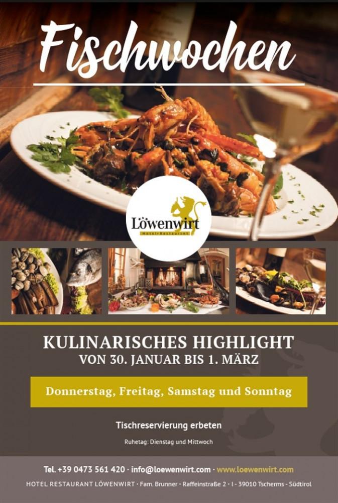 Angebot Fischwochen bei Hotel Restaurant Löwenwirt